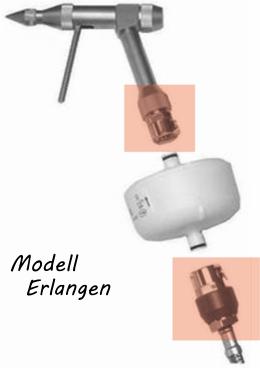 Edelstahl-Reinigungspistole zum Anschluss für Pall-Wasserfilter