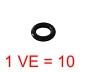 SELECTA O-Ring  3x1  (1 VE=10 Stück)