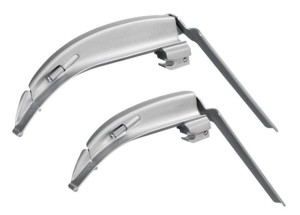 Laryngoskopspatel Q-Blade konventionell (Warmlicht) mit flexibler Spitze