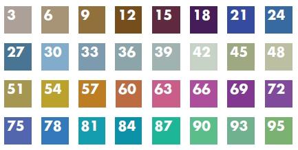 Farbtabelle für Titan-Drähte